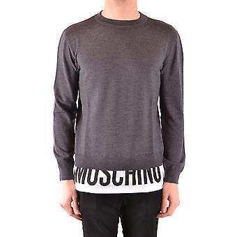 Moschino suéter de algodón gris