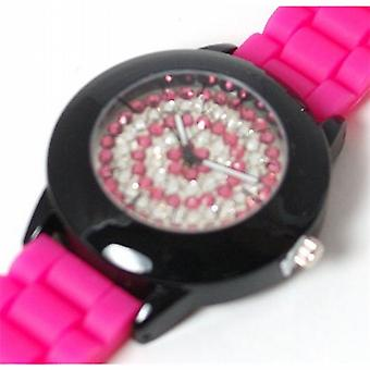 Henley Glamour Ladies Bling Pink Sport Strap Watch