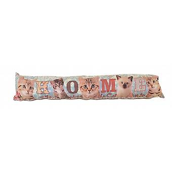 Photochromatic Print Draught Excluder: Cats Home