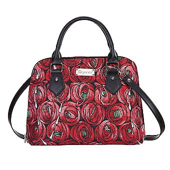 Mackintosh - rose and teardrop top-handle shoulder bag by signare tapestry / conv-rmtd