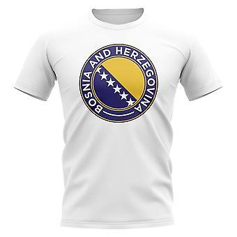 Bosnia Football Badge T-Shirt (White)