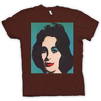 Mens T-shirt - Elizabeth Taylor Pop Art