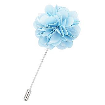 Baby blå vanlig satin jakkeslaget pin