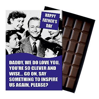 Funny Fathers Day Gift For Dad boîted Chocolate Greeting Card Present for Daddy CDL206