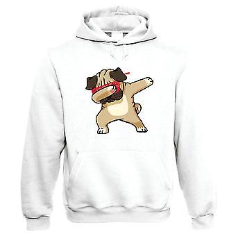 Dabbing Mops Herren T-Shirt | Crufts Hund Show Kennel Club Pedigree Rasse Welpen | Hund Geschenk Pelz Baby Lover Besitzer Mans beste Freundin | Lustige Hip Hop Geschenk Ihre Mama | Gastkünstler JG