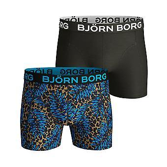 Bjorn Borg Men's Boxer Shorts 2 Pack ~ Sammy BB Leo Leafs
