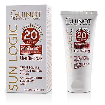 Guinot Sun Logic Uni Bronze Anti-ageing Tinted Sun Cream For Face Spf 20 - 50ml/1.4oz