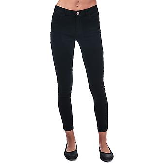 Womens Only Daisy Push Up Skinny Ankle Jeans in black.