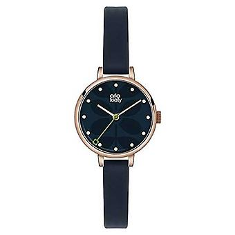 Orla Kiely Womens Dark Blue Leather Strap Navy Dial OK2036 Watch