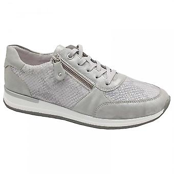 Remonte Grey Diamante Lace Up Trainer