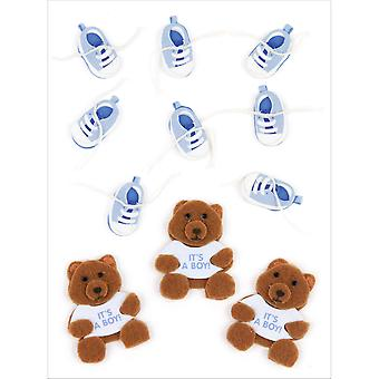 Jolee's By You Large Dimensional Embellishment Baby Boy Bear And Booties E5000439