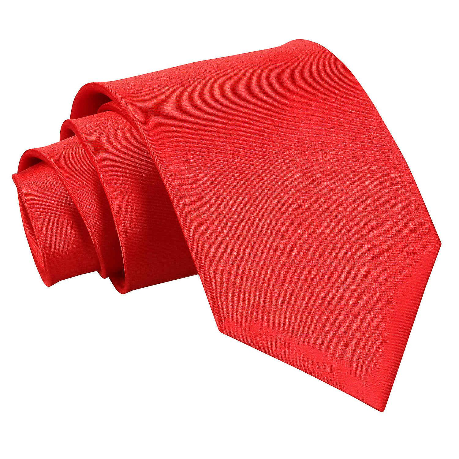 Plain Red Satin Extra Long Tie