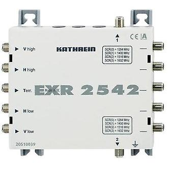SAT unicable cascade multiswitch Kathrein EXR 2542 Inputs (multiswitches): 5 (4 SAT/1 terrestrial) No. of participants: