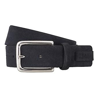 BRAX belts men's belts leather belt Suede Blue 4690