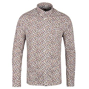 Pretty Green Woodlands Stone Floral Long Sleeve Shirt