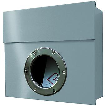 RADIUS Letterman 1 letterbox silver with porthole - 506 c.
