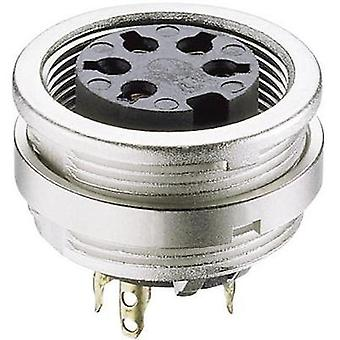 DIN connector Socket, vertical vertical Number of pins: 5 Silver Lumberg KFV 50/6 1 pc(s)