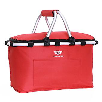 Cesta de Picnic Familiar de Slimbridge Tenby, rojo