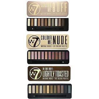 W7 Eyeshadow Palettes- (Colour Me Buff' + Colour Me Nude + Lightly Toasted)