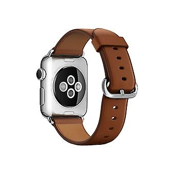 Apple 38 mm Classic Buckle-Klockrem-saddle Brown-Watch (38 mm)