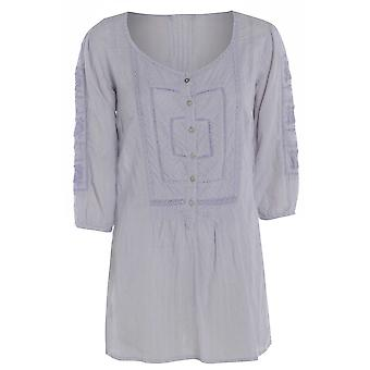 M & Co Cotton Rich Pastel Embroidered Top TP246-14