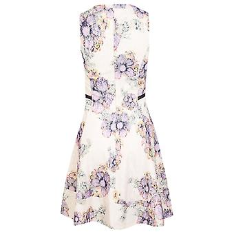 Miss Selfridge Cream Lace Fit and Flare Dress