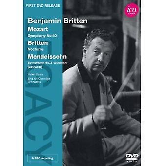 Benjamin Britten gennemfører Mozart/Britten & Mendels [DVD] USA importerer