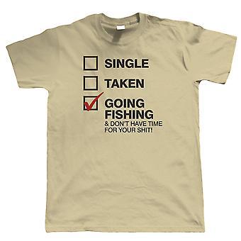 Gaan vissen, Mens grappig visserij T-Shirt