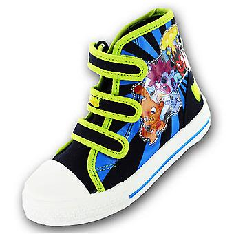 New Boys Moshi Monsters Cartoon Character Canvas Trainer Boot Shoe 62811B