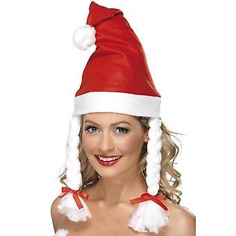 Santa hat with plaits Santa Christmas Hat