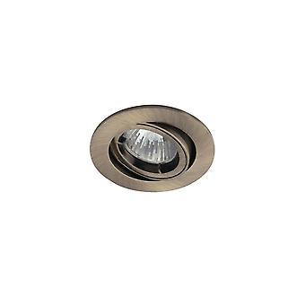 Ansell Ansell Twistlock Gimbal GU10/MR16 antieke koperen Downlight