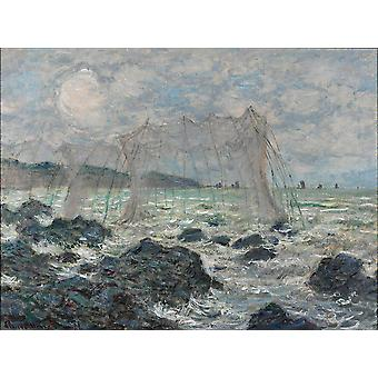 Claude Monet - Fishing nets at Pourville Poster Print Giclee