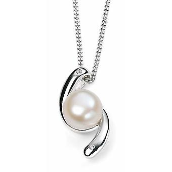 925 Silver Pearl And Zirconia Necklace