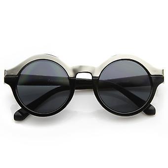Vintage Inspired Retro Fashion Round Horned Circle Sunglasses