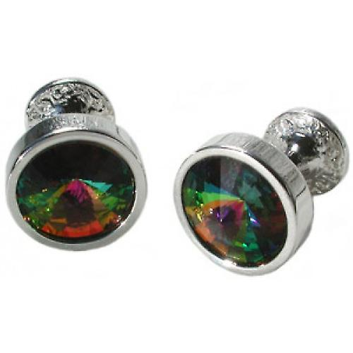 Mousie Bean Crystal Goblet Cufflinks - Green