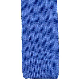 KJ Beckett Plain Wool Tie - Royal Blue