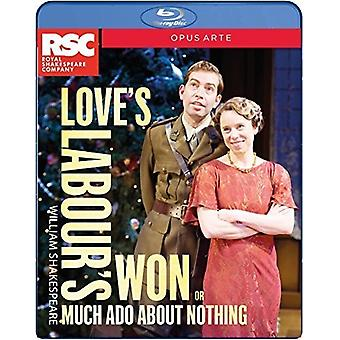 Love's Labour's Won (Aka Much Ado About Nothing) [Blu-ray] USA import