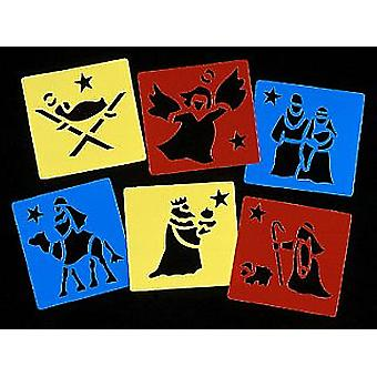 6 Christian Nativity Washable Stencils For Kids Christmas Crafts