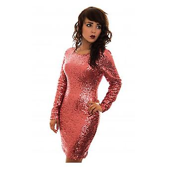The Fashion Bible Luxe Limited Edition Pink Sequin Bodycon Dress