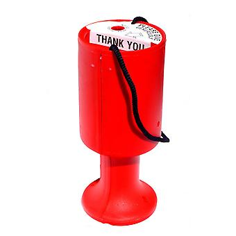 Round Charity Money Collection Box - Red
