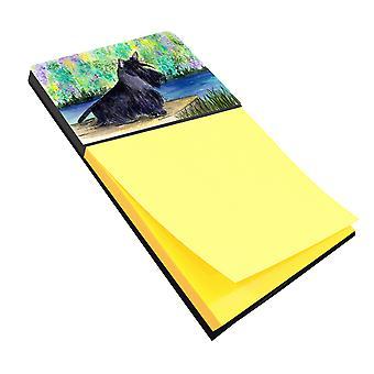 Scottish Terrier Refiillable Sticky Note Holder or Postit Note Dispenser