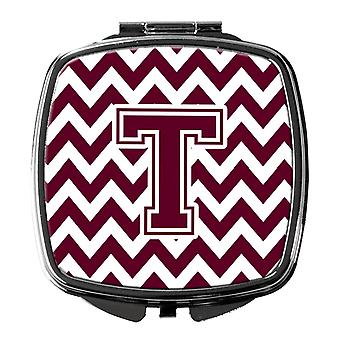 Carolines Treasures  CJ1051-SCM-Parent Letter Chevron Maroon and White  Compact