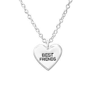 Best Friends - 925 Sterling Silver Plain Necklaces - W35185x