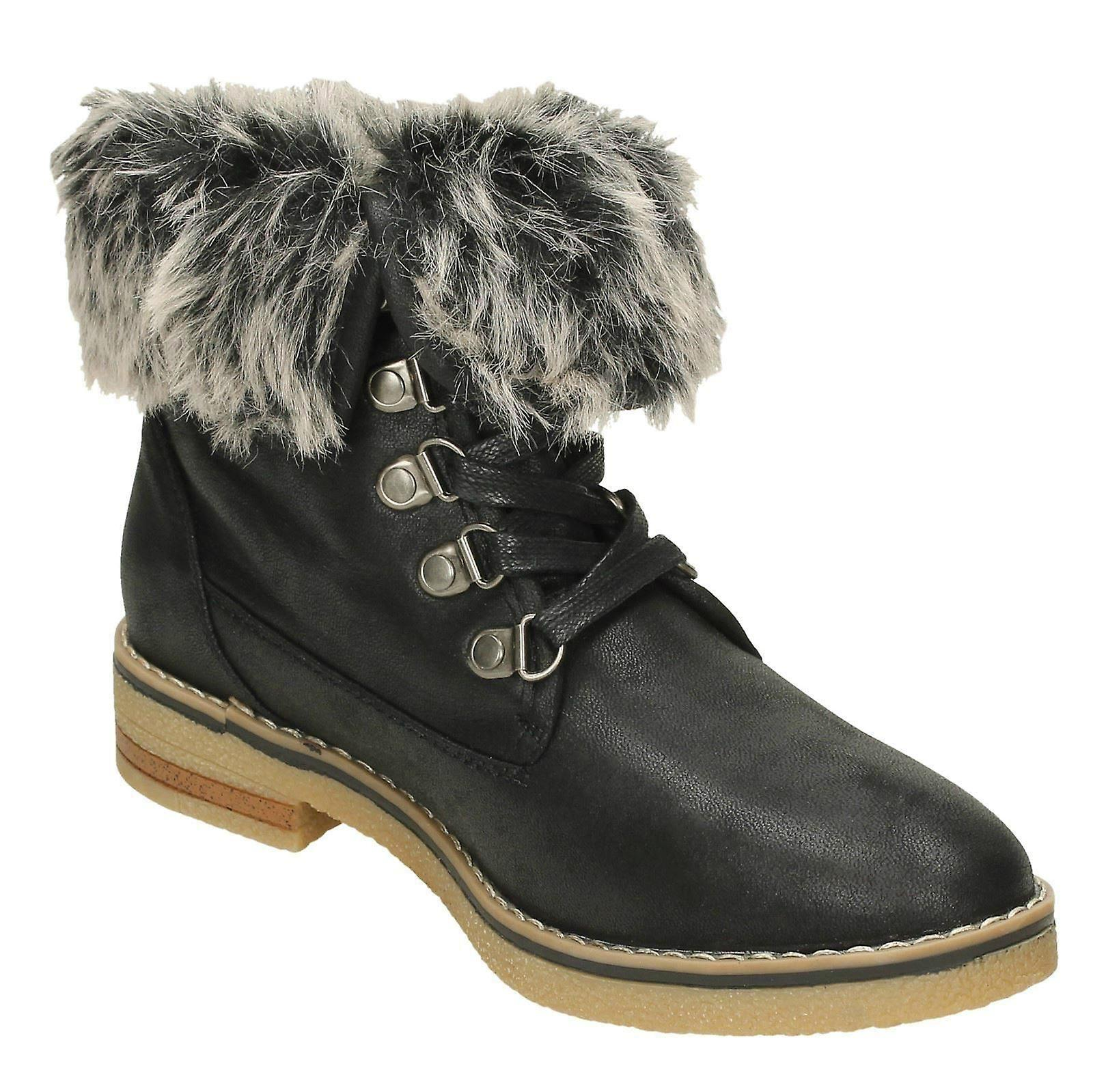 Fur Earth Boots F50865 Collar Down Ankle Ladies To Og6qPwga