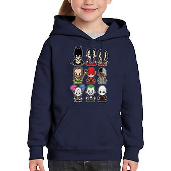 DC Justice League Suicide Squad Mix Kid's Hooded Sweatshirt
