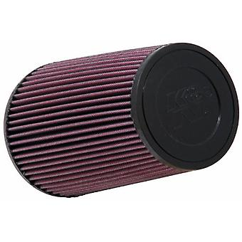 K&N RE-0810 Universal Clamp-On Air Filter: Round Tapered; 3 in (76 mm) Flange ID; 9 in (229 mm) Height; 6 in (152 mm) Ba