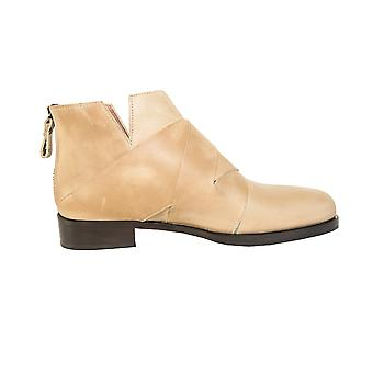 Quoque ladies M10052 beige leather ankle boots