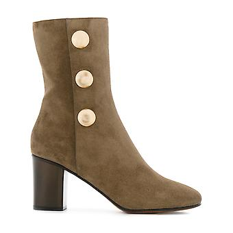 Chloé women's CH29191E18NR21V brown suede ankle boots