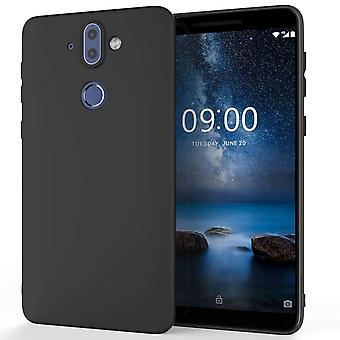 Caseflex Nokia 9 Matte TPU Gel Case - Solid Black