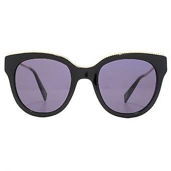 Marc Jacobs Metal Twist Temple Detail Cateye Sunglasses In Black
